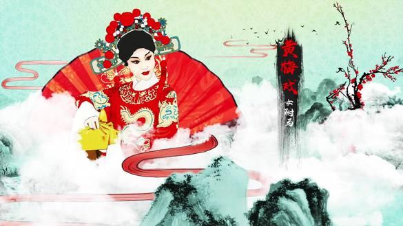 水墨中国风戏曲片头AE模板视频素材