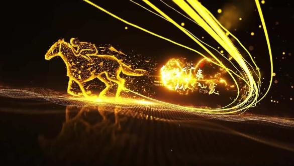 2021年度頒獎晚會金色粒子AE模板視頻素材