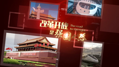 圖片展示改革開放【AE模板】視頻素材