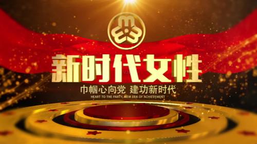 党政38妇联宣传E3D片头03AE视频素材