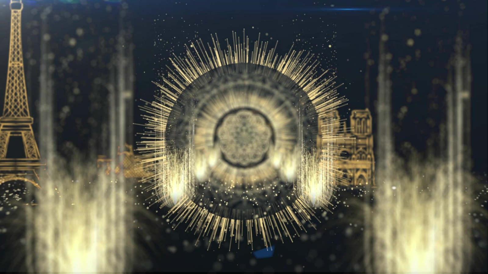 粒子光環片頭視頻素材