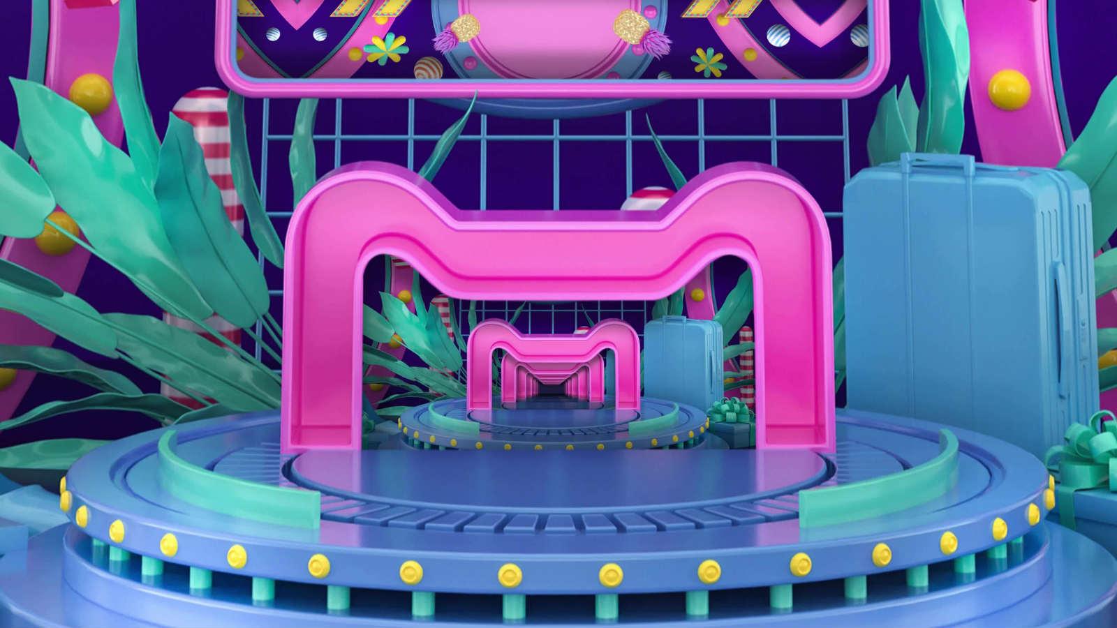 4K青春时尚欢乐盛典商品发布会背景视频素材