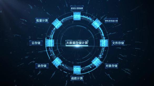 【原创】科技智慧物联大数据方块视频素材