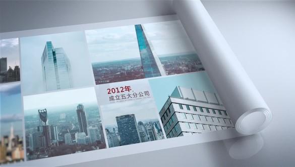 卷轴企业发展历程版本2视频素材